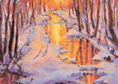 Wanda Mumm-Sharon Creek Sunset